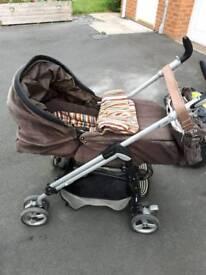 Pushchair car seat and matching bag