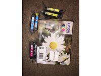 EPSON Daisy T1806 Cyan, Magenta, Yellow & Black Ink Cartridges Set - 6 Cartridges
