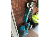 Industrial floor polisher and vacuum cleaner