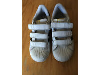 Girls Adidas Superstar Velcro fastening White/Black Size: UK 1