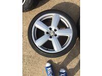 Original audi alloys 18' with tyres
