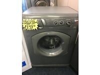 HOTPOINT 5+5KG DIGITAL WASHER/DRYER IN SILIVER