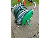 HOSE REEL AND PIPE