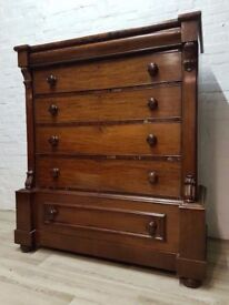 Victorian Scotch Chest Of Drawers (DELIVERY AVAILABLE FOR THIS ITEM OF FURNITURE)