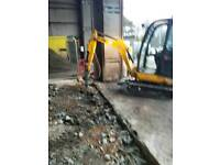 Mini digger&dumper ect &driver hire.plus fencing work