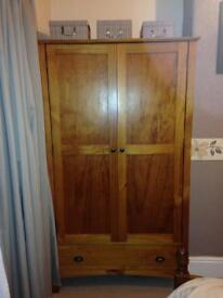 Next solid wood double wardrobe and drawer