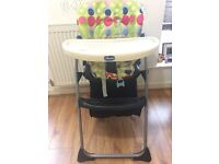 A Chicco High Chair in good condition is on sale