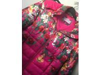 Pretty flower pink puffa coat