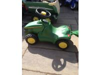 Kids John Deere tractor and trailer
