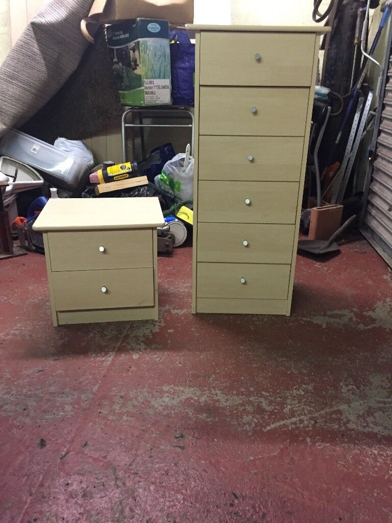 Small and large set of drawers for bedroom