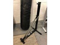 Punchbag, wall bracket and gloves excellent condition