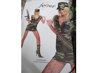 smiffys combat girl sexy outfit size 12/14 halloween