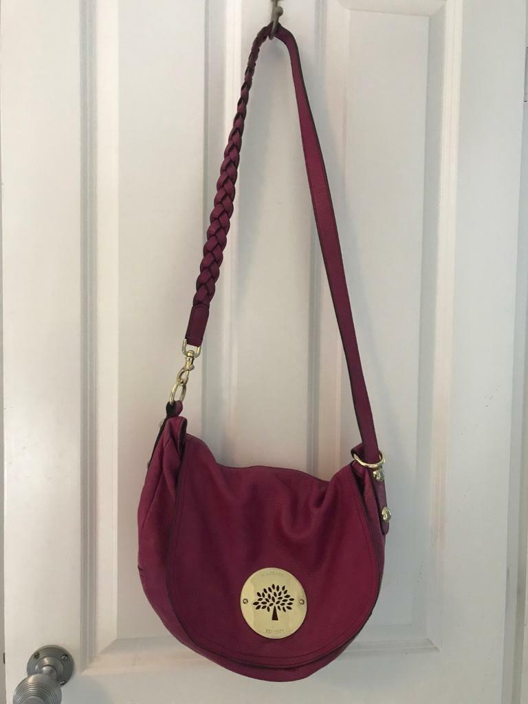 Genuine Dario mulberry satchel with dust bag  d5a8af2bb9120