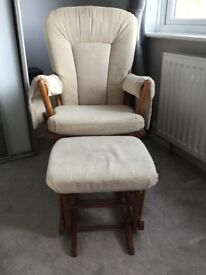 Dutailer Nursing Glider Chair & Stool