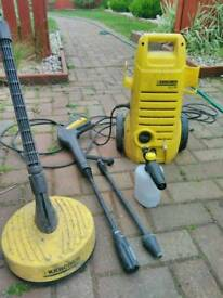 Karcher k2 with various accessories inc snow foam