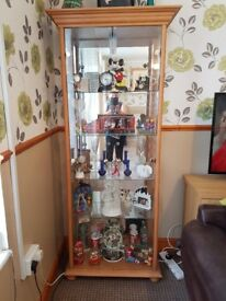 Glass display cabinet 4 glass shelves