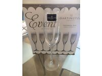 6x Crystal champagne glasses, boxed and never used. Perfect condition £20