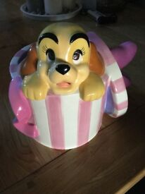 Rare lady and the tramp moneybox