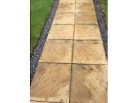 60x60cm cream paving slabs x 85