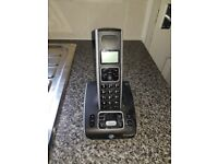 By cordless phone