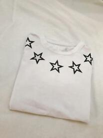 Givenchy star t shirt white