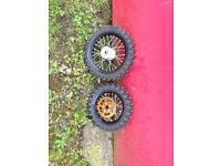 Ktm 50 steel wheels