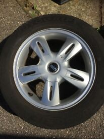 mini one alloy wheel with good tyre 175. 65 r15