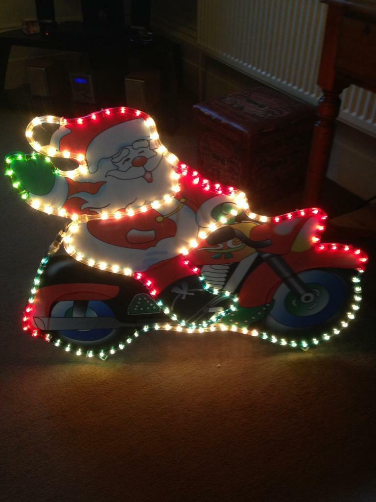 Santa on motorcycle rope light in torquay devon gumtree santa on motorcycle rope light aloadofball Choice Image