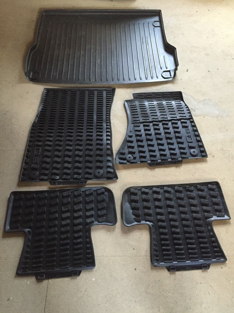 Rubber mats glasgow - Genuine Audi Rubber Mats And Rubber Boot Liner 60
