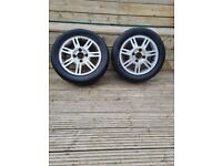 185/ 55/14 FORD FIESTA ALLOY WHEELS WITH TYRES.