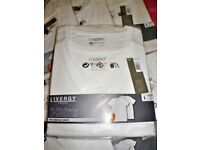 Brand new sealed 8 white t-shirts short sleeve size large