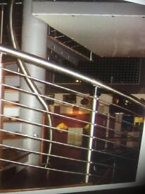 Stainless steel and mild steel balustrades