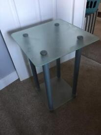 Tall standing glass table