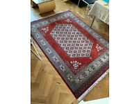 Handmade Pakistani style traditional carpet / rug from Agra India (5ft x 7ft)