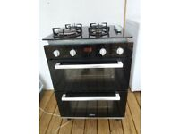 Gas hob electric double oven 2yrs old. Plus Exstractor fan