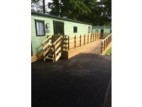 Wheelchair friendly caravan on quiet park in lake district full wet room ramp access electric hoist