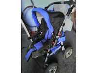 Big blue pram for sale