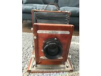 NEAR MINT DEARDORFF 8X10 V8 FIELD CAMERA/SCHNEIDER SYMMAR-S 240MM LENS/9 X FIDELITY ELITE DARKSLIDES