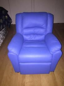 Kids leather recliner