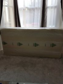 Boxed/New! Half price! Single mattress and bed base