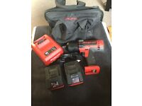 Snap on 1/2 impact wrench kit cteu8850A plus x2 4.0ah battery's