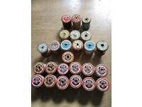 Old wooden cotton reels. Sylko, coats and Clark collectible cotton reels £1 each can collect or post