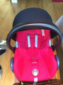 Maxi Cosi Cabriofix Isofix Car Seat plus Easy Fix Base and extras **COLLECTION ONLY**