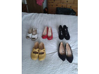 2 pairs of ladies shoes size 5 for £20 the lot