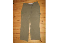 Womens walking trousers, Colour :Khaki, Size: 10 make: Crag Hoppers