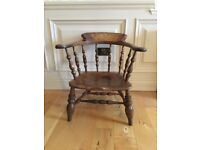 Antique Victorian Smokers Bow Chair