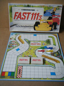 """FAST 111's"" Motor Racing board game. By Parker Brothers 1981. Complete."