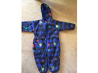 Blue puddlesuit 12-18 months