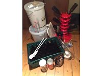 MUST GO TODAY Complete Set of Home Brewing Equipment, including 2 brew kits!!! - was £175, now £50!!