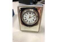 Glasgow Rangers Silver Plates Clock 70mm High